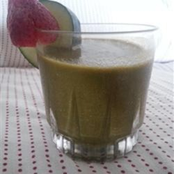 Strawberry Fields Smoothie Recipe - Start your day off right with this recipe for a strawberry smoothie made with spinach, apple, carrot, and banana.