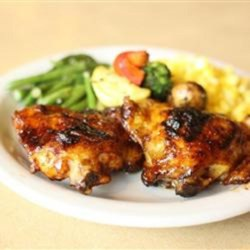 Big Ray's Tropical Island Chicken Recipe - Big Ray marinates his chicken thighs in a mixture of honey, lime juice, soy sauce, and garlic before grilling them, for a tropical taste of the islands.