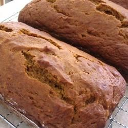 Downeast Maine Pumpkin Bread Recipe and Video - The classic moist pumpkin bread from Down East is spiced with cinnamon, ginger, nutmeg and cloves. This bread improves with age, so plan to make it a day ahead if possible.