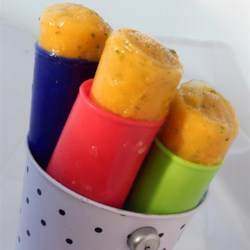 Spicy Mango-Basil Paletas