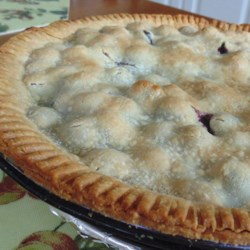 Marry-Me Blueberry Pie Recipe - This blueberry pie with a homemade flaky pie crust is so delicious that marriage proposals have been offered to the baker.