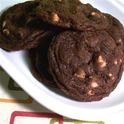 Chewy Chocolate Peanut Butter Chip Cookies Recipe - Chocolate cookies with peanut butter chips instead of chocolate chips.