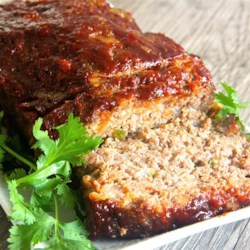 Brown Sugar Meatloaf with Ketchup Glaze Recipe - This easy meatloaf recipe calls for a brown sugar and ketchup glaze for a moist and flavorful weeknight dinner idea.