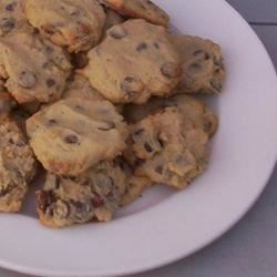 Cream Cheese Chocolate Chip Cookies Recipe - This is a slightly healthier version of traditional chocolate chip cookies because margarine and cream cheese replace straight butter.  They bake up moist and cake-like and have a delicious taste.  I always gets rave reviews!