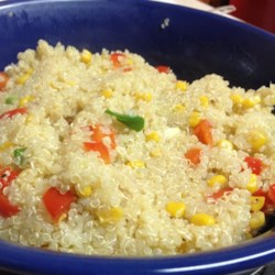 Quinoa with Veggies Recipe - I love quinoa and I wanted to make something that was flavorful and filling. The vegetables can be changed to your liking!