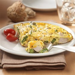 Leftover Turkey Frittata Recipe - Leftover turkey and green bean casserole star in this flavorful frittata recipe for a quick entree anytime after the holiday dinner.