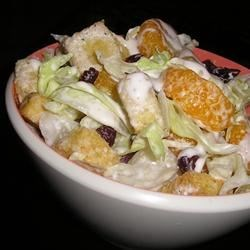Mandarin Orange Salad Recipe - There are lots of wonderful things in this salad, like mandarin oranges, Vidalia onions, and butter lettuce. And of course, there 's the dressing. It 's creamy and garlicky and even has a bit of sugar. It coats the salad ingredients beautifully and tastes wonderful.