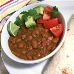 Mexican Beans Recipe - Wonderful Mexican beans to serve as a side dish with your meal.