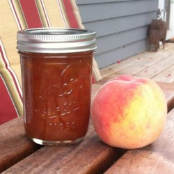Kiki's Spiced Habanero Peach Jam Recipe - Give your homemade peach jam a subtle kick with the addition of habanero peppers. Serve over a block of cream cheese with crackers for an easy appetizer.