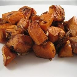 Onion Roasted Sweet Potatoes Recipe - Here's an alternative to all those extra sugary sweet potato recipes!