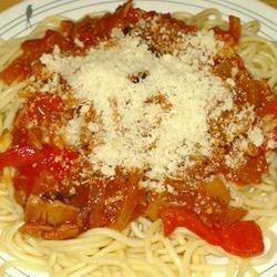 Delicious Angel Hair in Tomato, Tuna and Olive Sauce Recipe - You'll love this blend of tomatoes, tuna and black olives in a homemade tomato sauce. My mom would make this during Lent for the family, but you'll want to make it all year round.