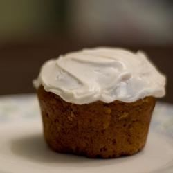 pumpkin tea bread with cream cheese frosting