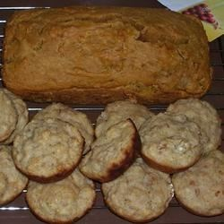 Baked pumpkin bread and pear-a-dise muffins