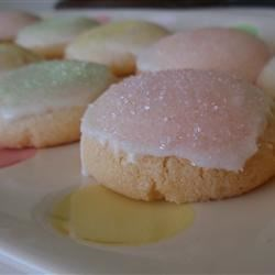 Cracked Sugar Cookies II Recipe - These are very tender cookies. Should you want to alter them for a later date add different flavor extracts. I got this recipe years ago when I was a girl scout.