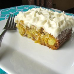 Easy Pineapple Cake with Cream Cheese frosting