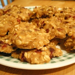 Egg-Free Low-Fat Oatmeal Cookies Recipe - Delicious and moist, applesauce oatmeal cookies.