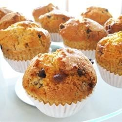 Chocolate Chip Muffins Recipe - You won't believe how easily and quickly you can have chocolate chip muffins on the table using this recipe.