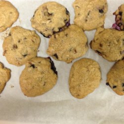 Healthier Best Big, Fat, Chewy Chocolate Chip Cookie Recipe - These bakery-style cookies are made better and healthier with the addition of blueberries, dried cranberries, and substituting some yogurt for butter.