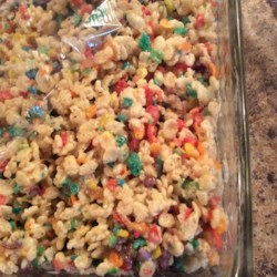 Funfetti(R) Cake Batter Rice Krispies(R) Treats Recipe - Funfetti(R) cake mix and brown butter add a new colorful twist on the classic Rice Krispies(R) treats and are perfect for any festive celebration.