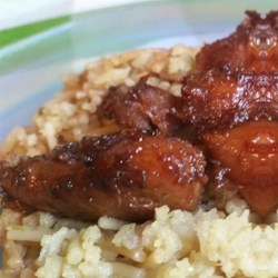 Bourbon Chicken Recipe and Video - This chicken steeps in a rich, bourbon-based marinade before baking.