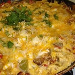 Migas Recipe - A quick and easy egg dish with Southwestern flair. Serve with picante sauce if desired.