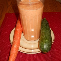 Zucchini and Carrot Smoothie Recipe - Zucchini and carrot are blended with Greek yogurt and flax seeds, creating a quick-and-easy breakfast smoothie.