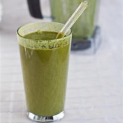 Chocolate Spinach Milkshake Recipe - You won't even taste the spinach in this bright green chocolate and spinach milkshake with peanut butter.