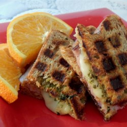 Pesto and Balsamic Waffle Sandwiches