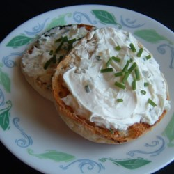 Chive and Onion Yogurt and Cream Cheese Spread Recipe - A delicious, homemade version of the new yogurt and cream cheese spreads in the grocery store. If Greek yogurt is not available, hang your yogurt in a cheesecloth over the sink to drain overnight.