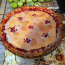 Lisa's Tomatillo and Strawberry Pie