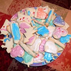 Butter cookies with sugar frosting