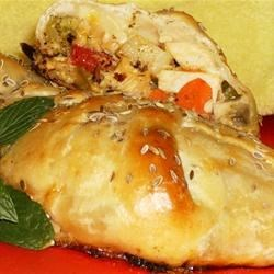 Chicken Crescent Braid Recipe - A refrigerated crescent braid, filled with chicken, vegetables, sour cream, mustard, and seasonings, and baked to a delicious golden brown.