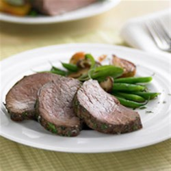 Salt Encrusted Beef Tenderloin Recipe - Beef tenderloin roasted in a sealed salt crust and herbs is tender, moist and delicious--an impressive special occasion main dish.