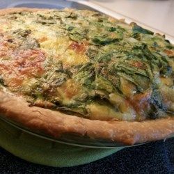 Green Chile Spinach Quiche Recipe - You can add other meats or veggies to suite your taste, and this quiche can be baked with or without pie shells.
