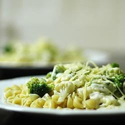 Four Cheese Sauce Recipe - A marvelous alchemy of heavy cream, butter and Parmesan, mozzarella, provolone and Romano cheeses creates a rich, velvety blanket for your favorite pasta.