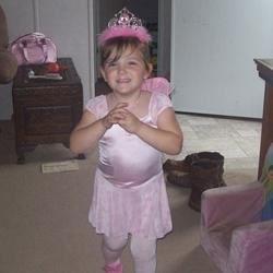 Paige as a fairy princess.