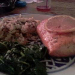 Sweet Citrus Baked Salmon Recipe - Baked salmon flavored with a trio of citrus fruits and a splash of champagne is a refreshing and light way to prepare salmon.