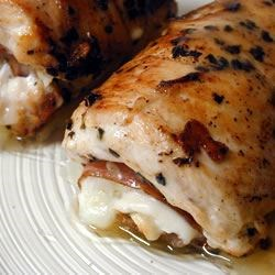 Stuffed Chicken Valentino Recipe - This is a dish to serve guests--be ready to impress! Good enough to be served at a high-priced restaurant, but easy enough to make yourself. Creamy mozzarella and roasted red peppers make the dish really special.