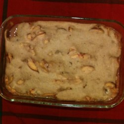 Sugar Free Peach and Banana Cobbler