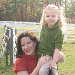 me and my daughter @ the horse pasture