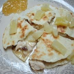 Quick Caribbean Quesadillas Recipe - Not your average quesadillas, these are filled with a mixture of Swiss cheese, bacon and pineapple for a fun and unforgettable meal that kids will love.