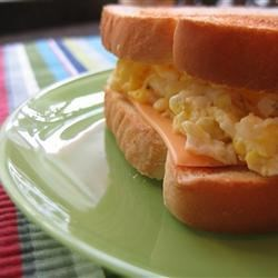 Egg Sandwich Recipe - A delicious microwave egg and cheese sandwich on toast.