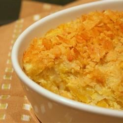 Squash Casserole I Recipe - This casserole makes a rich, creamy vegetable side dish. It tastes even better the next day for leftovers.