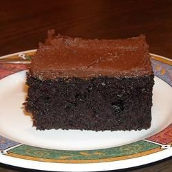 Black Chocolate Cake Recipe - A hefty dose of cocoa makes this cake a chocolate indulgence.