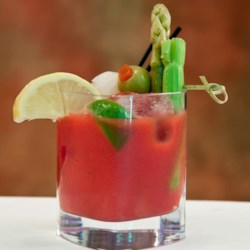 Sriracha Bloody Mary Recipe - The conventional Bloody Mary recipe gets a bright, spicy twist by replacing Tabasco(R) hot sauce with sriracha sauce.