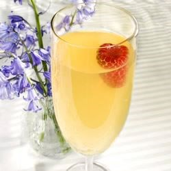 Mock Champagne Recipe - A good baby-shower punch made with ginger ale, pineapple juice and white grape juice. It looks especially good when served with an ice ring.