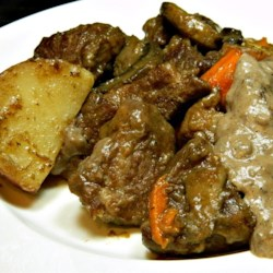 Pot Roast with Sour Cream Gravy Recipe - Pot roast with a sour cream gravy is a warm and comforting meal to prepare on cold winter evenings.