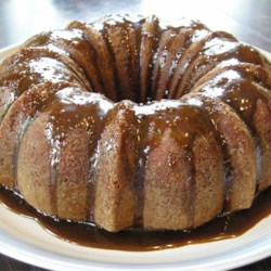 Banana Cake X Recipe - This is an incredibly moist banana cake from a mix... I always serve it with caramel icing and get raves every time!