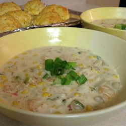 Seafood Chowder Recipe and Video - A creamy chowder full of flavor! Of course regular ingredients may be used for those not watching their waistline.