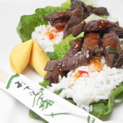 Best Korean Bulgogi Recipe - My grandmother made this traditional, non-spicy Korean dish a lot.  Every person, even those who have never ate Korean food, love this dish. Use any beer of your choice, we used Budweiser. Roll this beef up in a lettuce leaf with some rice for a fun dining experience. No silverware needed! -Kids love it!